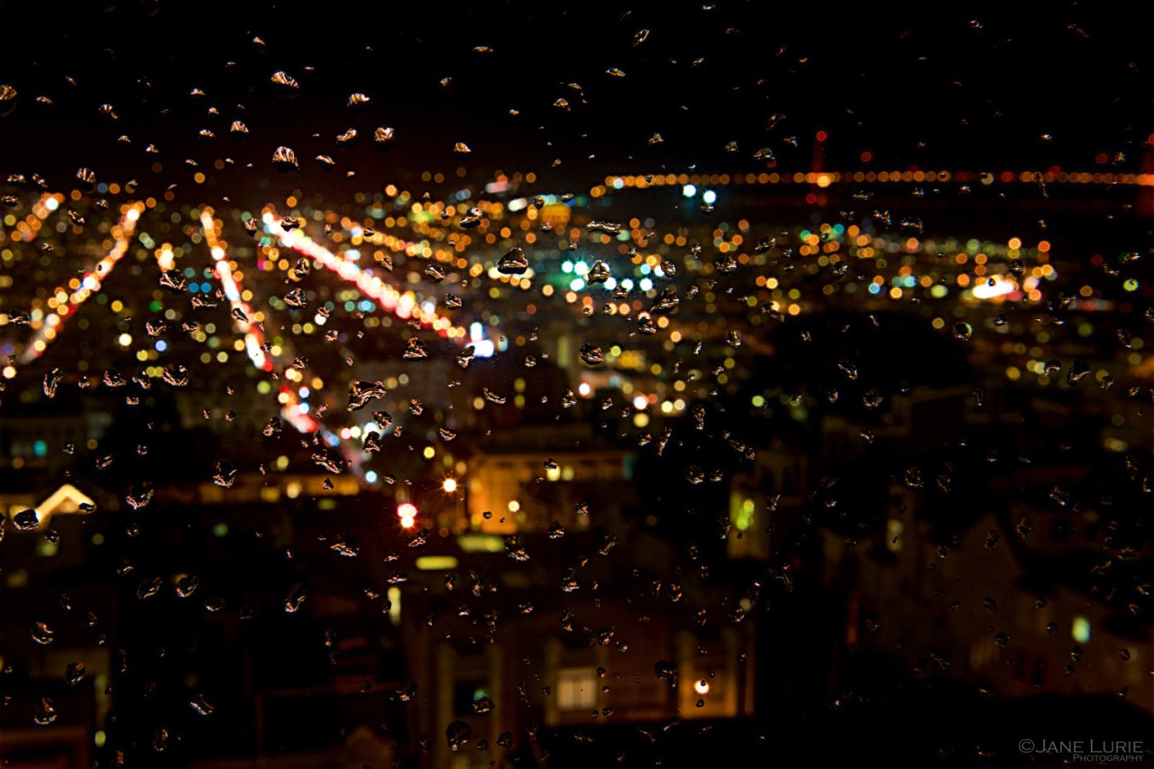 Rain, San Francisco, Abstract, Photography, City, California