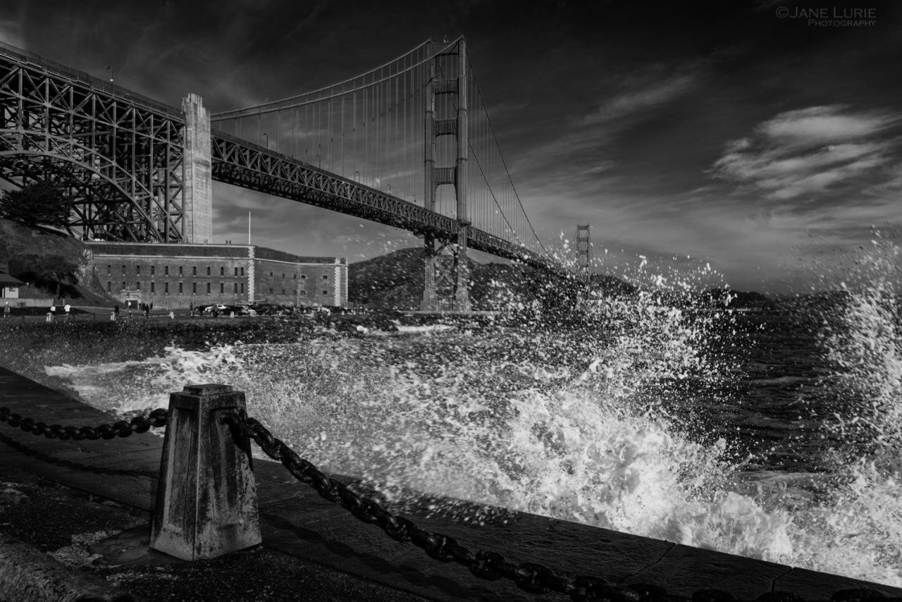 San Francisco, Golden Gate, Landscape, Monochrome, Action, Nature, Photography