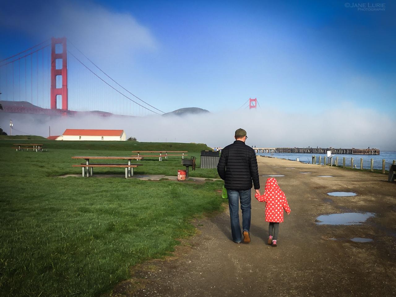 Portrait, Rain, San Francisco, Photography