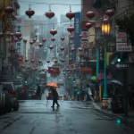 City, Landscape, Rain, San Francisco, Light