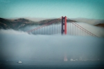 Landscape, San Francisco, Fog, Golden Gate, Nikon, City,