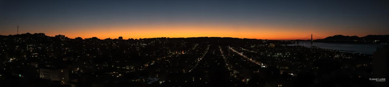 Panorama, Photography, Landscape, City, San Francisco, Golden Hour