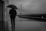 Rain, Monochrome, Black and White, Landscapes, Photography, San Francisco, California, Golden Gate Bridge, Noir, Fujifilm X-T2,