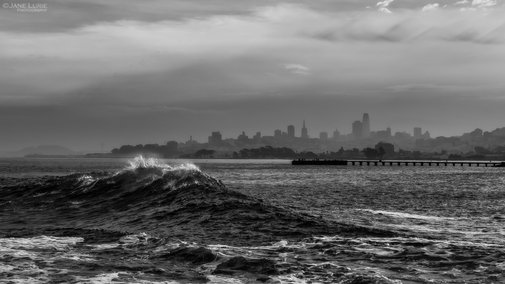 San Francisco, Landscape, Photography, Fujifilm X-T2, Waves, Ocean, Golden Gate Bridge, California, Beach, Nature, Action, Black and White, Monochrome