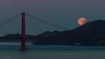 Astronomy, Moon, Landscape, Photography, Night, Nightscape, Urban, Golden Gate Bridge, Eclipse, Full Moon