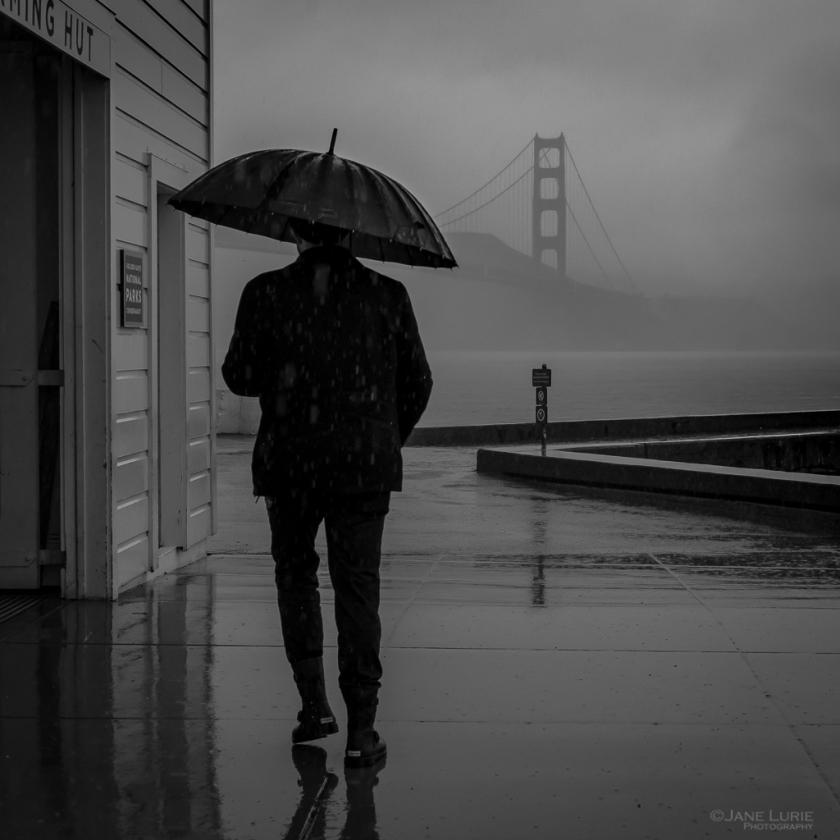 Monochrome, Black and White, San Francisco, Golden Gate Bridge