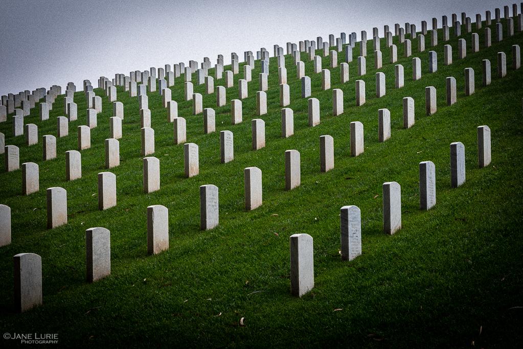 Cemetery, War, Photography, San Francisco, Gravestones, Remembrance, Nikon, Fujifilm X-T2, California