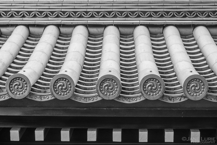 Photography, Black and White, Architecture, Japan, Repeating Patterns, Fujifilm X-T2, Monochrome