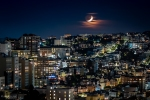 Nightscape, Photography, San Francisco, California, Fujifilm X-T2, Moon,
