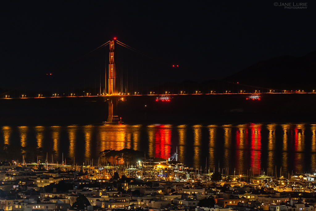 San Francisco, Golden Gate Bridge, Inspiration, Reflection, Landscape, City, Night, Photography, Fujifilm X-T2, Elijah Cummings