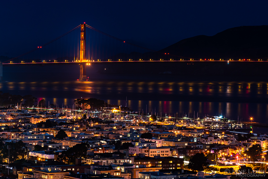 Nightscape, Photography, San Francisco, California, Fujifilm X-T2, Moon, Golden Gate Bridge