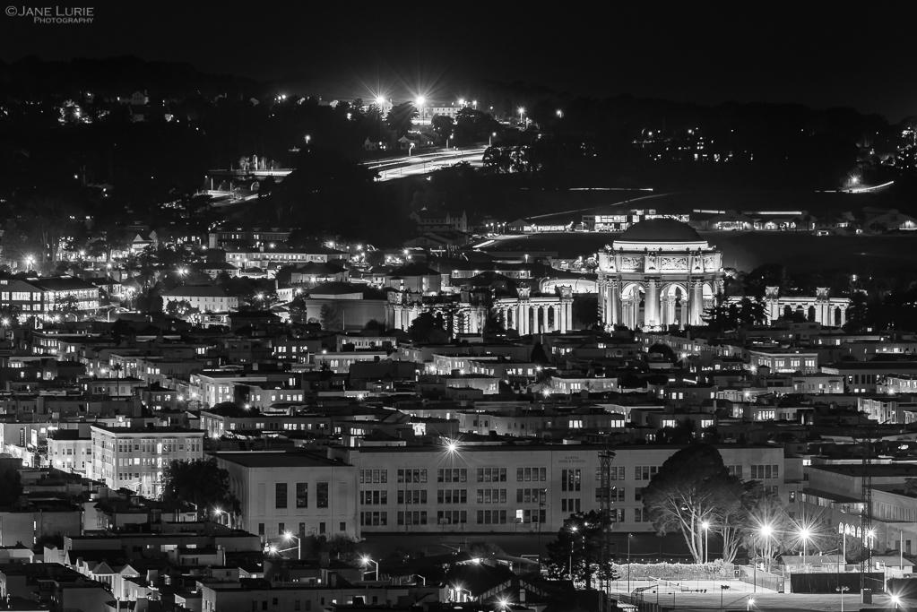 Nightscape, Photography, San Francisco, California, Fujifilm X-T2, Black and White, Monochrome