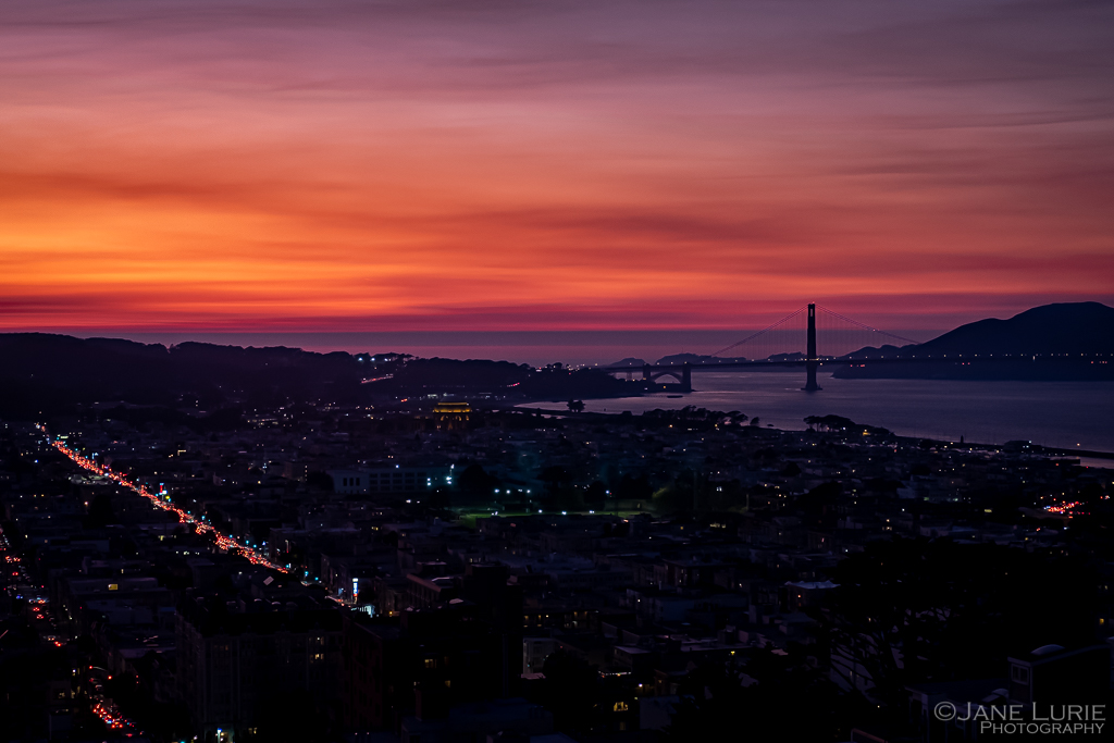 Sunset, San Francisco, California, Fujifilm X-T2