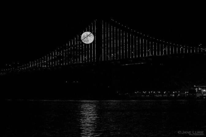 Photography, San Francisco, Full Moon, Black and White