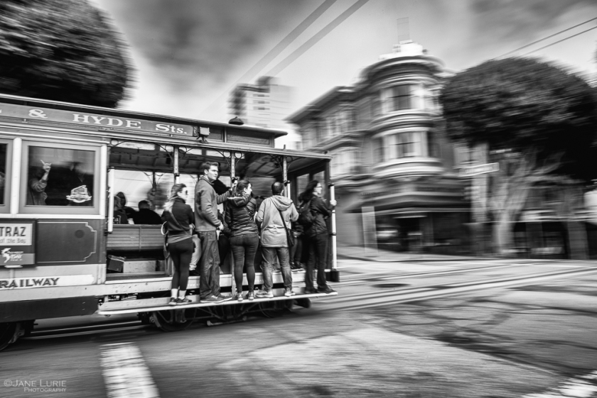 Cable Car, San Francisco, Black and white, Photography