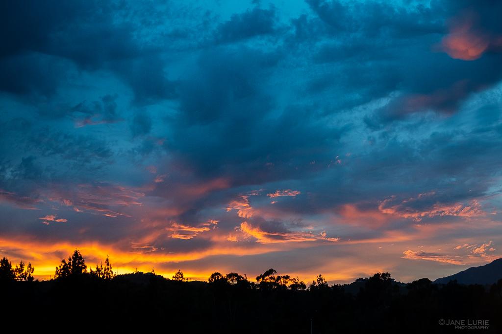 Landscape Photography, Sunset, Clouds, Fujifilm X-T2 California, Pasadena